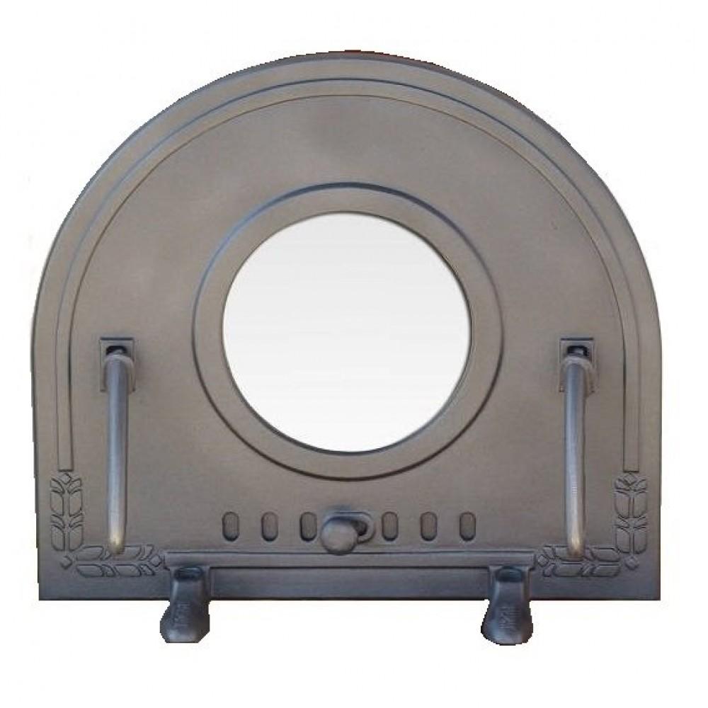 H2211 Чугунная дверца со стеклом PIZZA 5