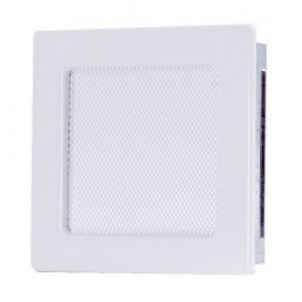 Вентиляционная каминная решетка белая 170х170 Kratki