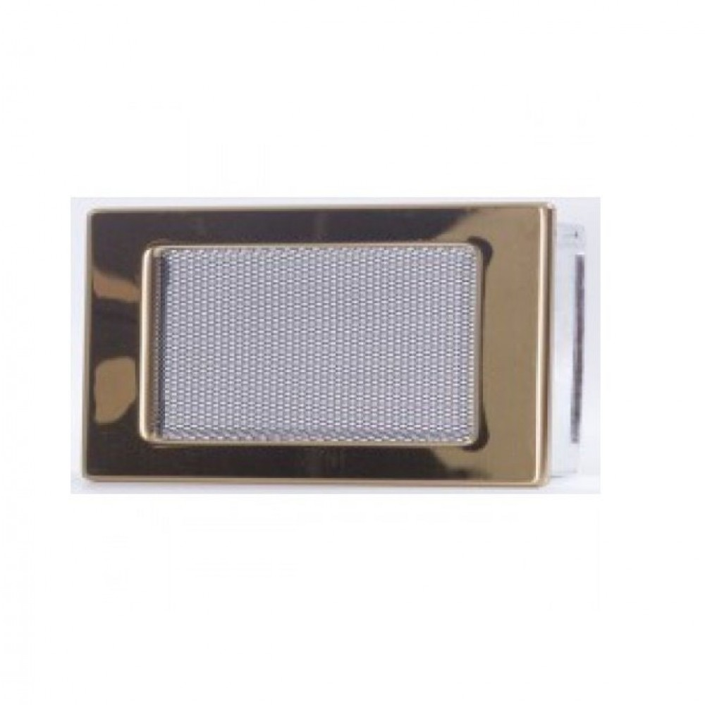 Вентиляционная каминная решетка золото 110х170 Kratki