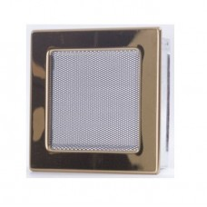 Вентиляционная каминная решетка золото 170х170 Kratki