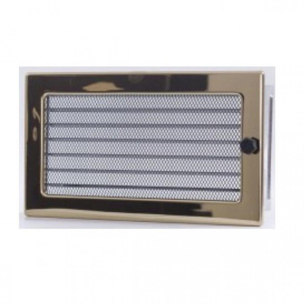Вентиляционная каминная решетка золото с жалюзи 170х300 Kratki