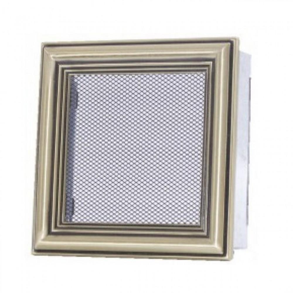 Вентиляционная каминная решетка ретро 170х170 Kratki
