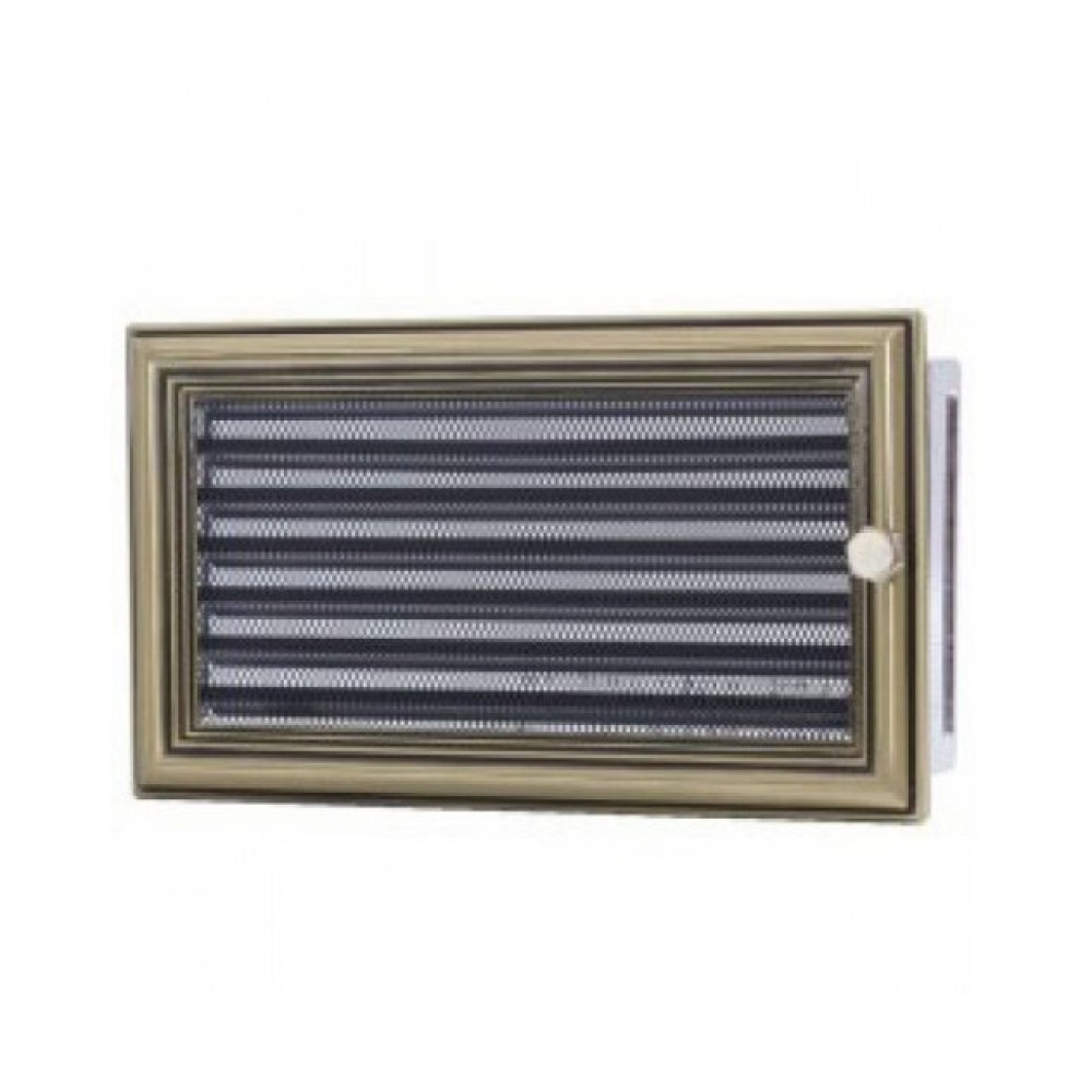 Вентиляционная каминная решетка ретро с жалюзи 170х300 Kratki
