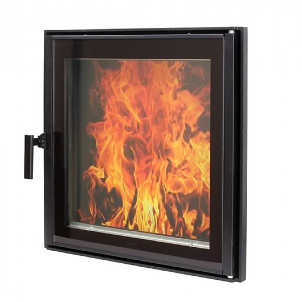 603 HTT Каминная дверца черная с двойным стеклом