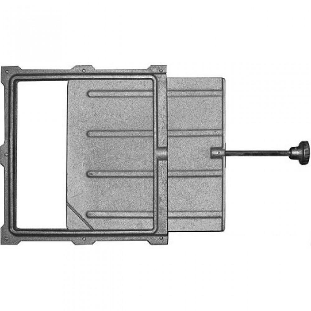Задвижка дымохода ЗВ-5А Ручка: сталь