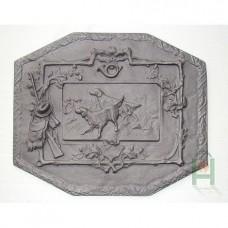 H0516 Чугунная плита Охотничьи собаки