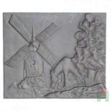 H0512 Чугунная плита «Ветряная мельница»