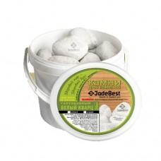 Белый кварц 20 кг галтованный Jadebest