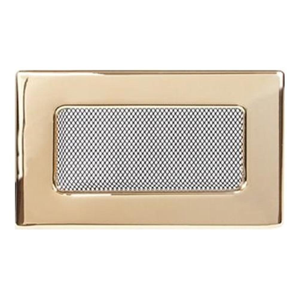 Вентиляционная решетка 110х170 мм. золото двойная сетка