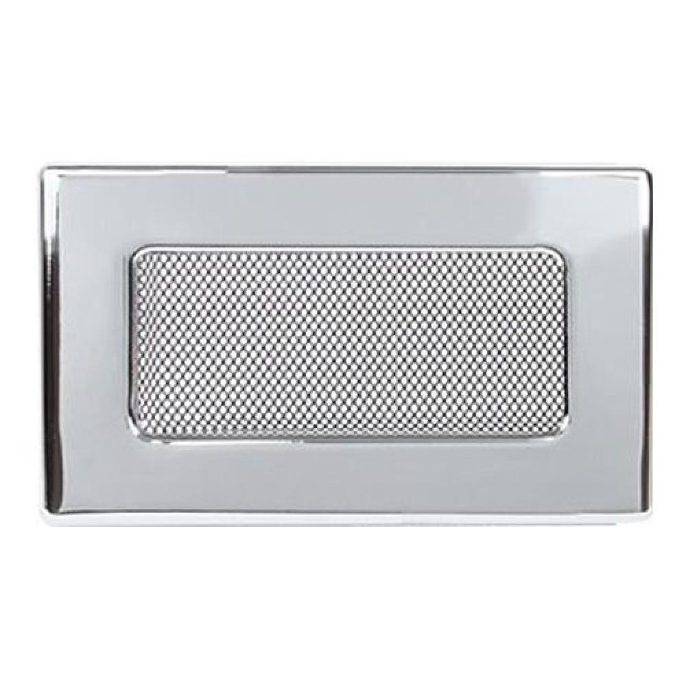 Вентиляционная решетка 110х170 мм. никель. двойная сетка