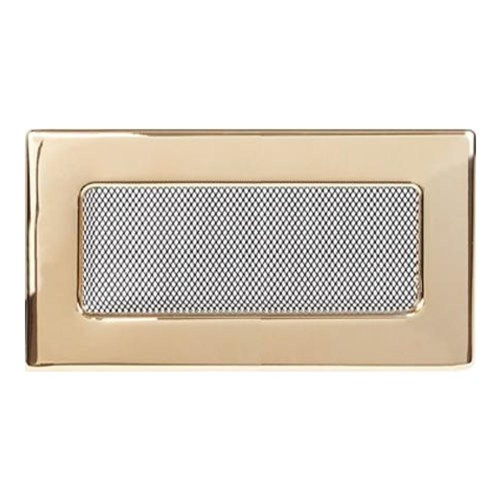 Вентиляционная решетка 110х240 мм. золото двойная сетка