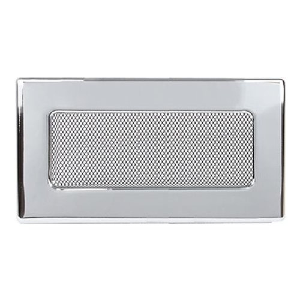 Вентиляционная решетка 110х240 мм. никель. двойная сетка