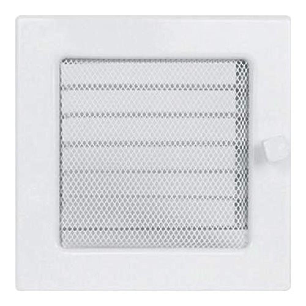 Вентиляционная решетка 170х170 мм. белый с жалюзи