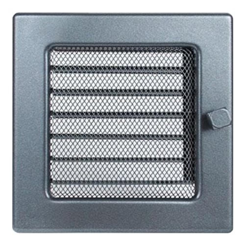 Вентиляционная решетка 170х170 мм. графит с жалюзи
