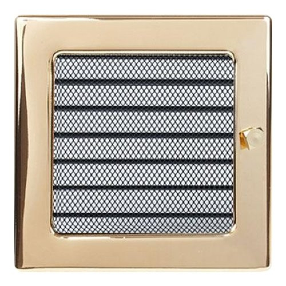 Вентиляционная решетка 170х170 мм. золото с жалюзи