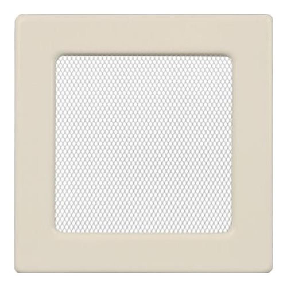 Вентиляционная решетка 170х170 мм. кремовый