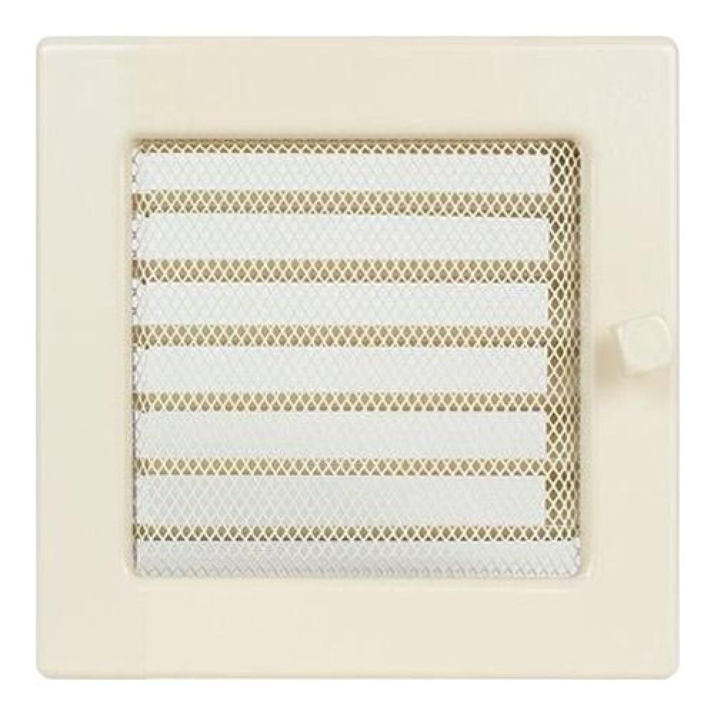 Вентиляционная решетка 170х170 мм. кремовый с жалюзи