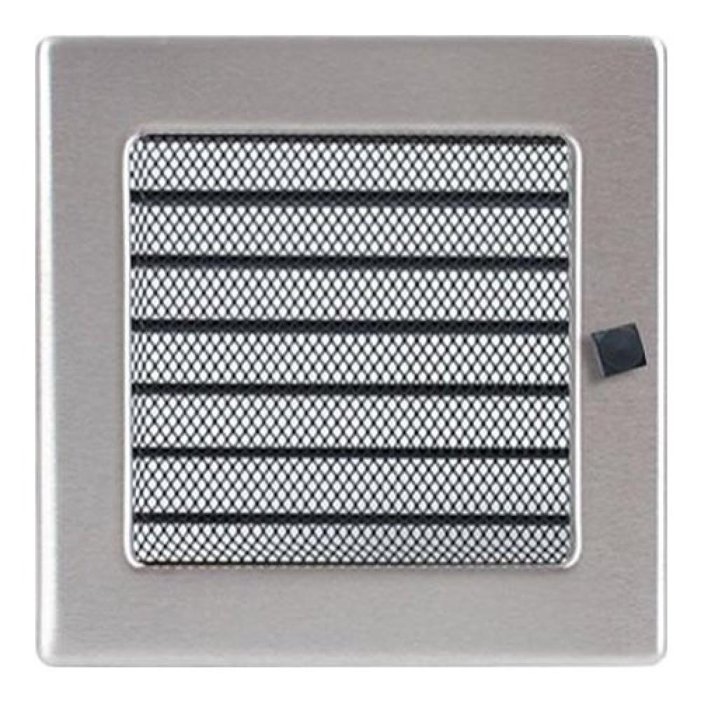Вентиляционная решетка 170х170 мм. нерж. с жалюзи