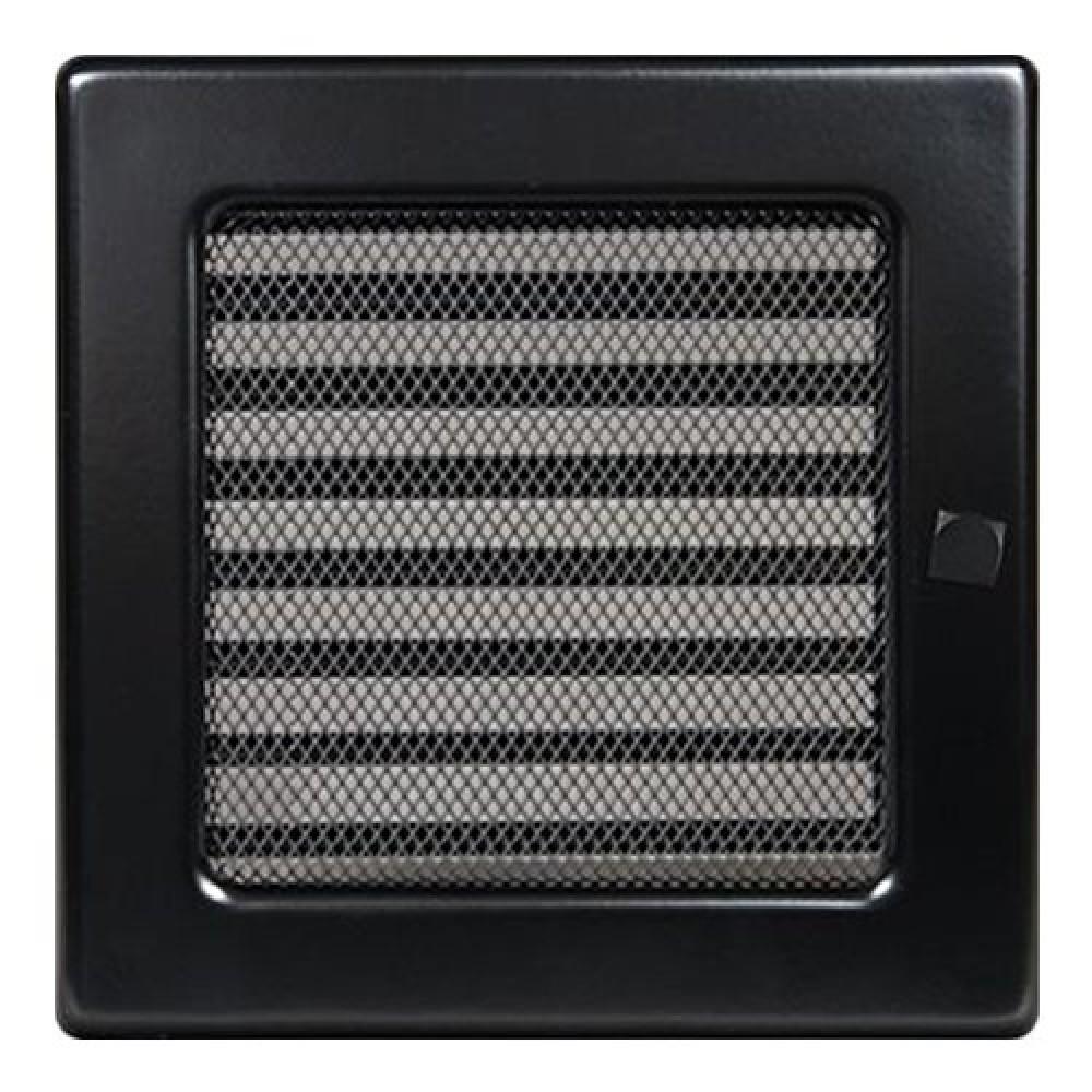 Вентиляционная решетка 170х170 мм. черный с жалюзи