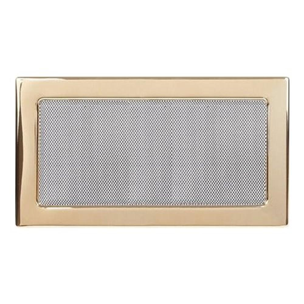 Вентиляционная решетка 170х300 мм. золото двойная сетка