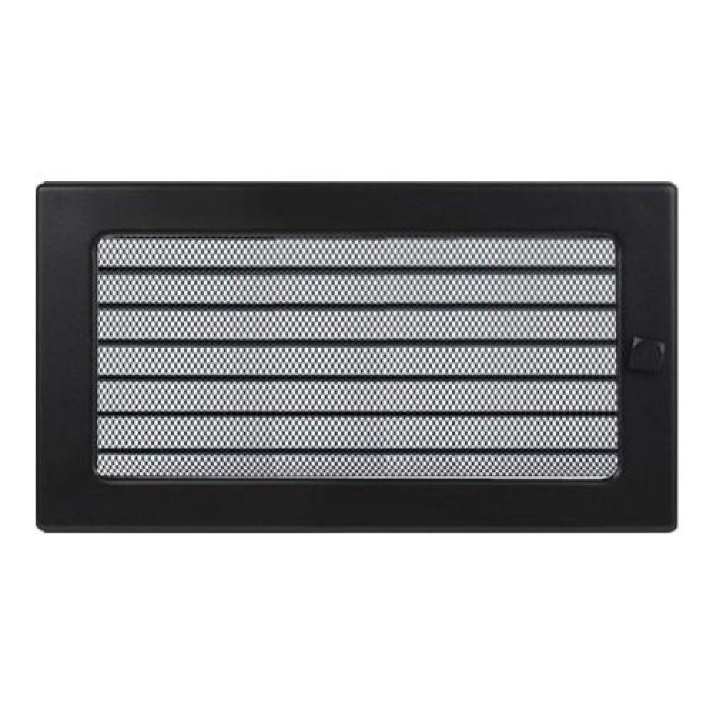 Вентиляционная решетка 170х300 мм. черный с жалюзи