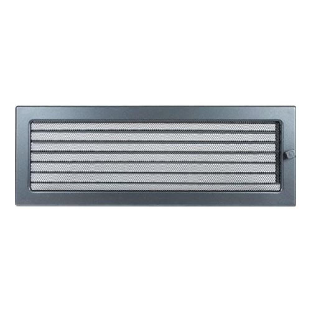 Вентиляционная решетка 170х480 мм. графит с жалюзи