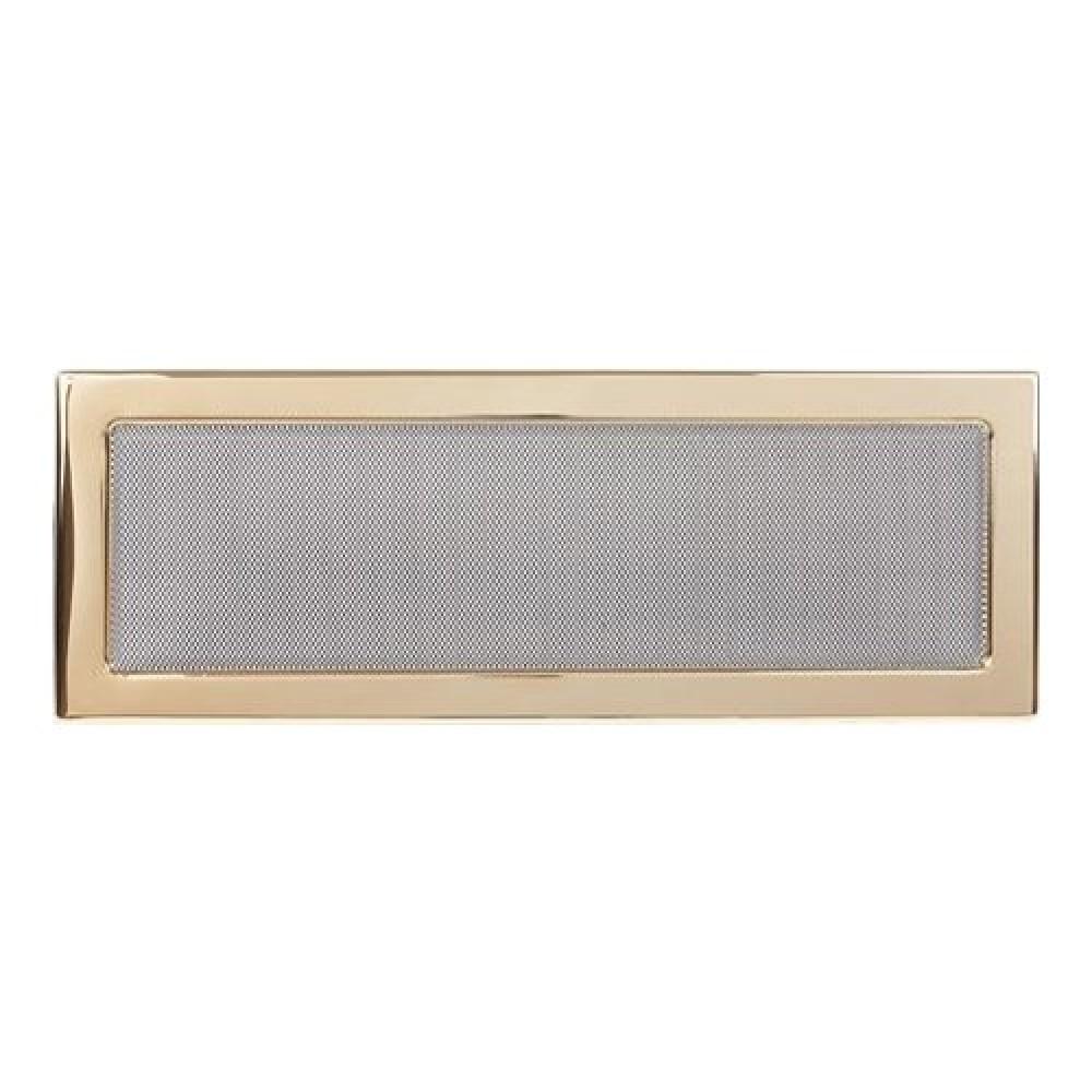 Вентиляционная решетка 170х480 мм. золото двойная сетка