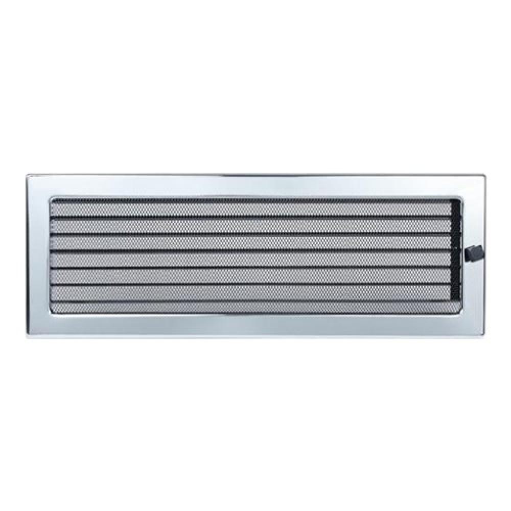 Вентиляционная решетка 170х480 мм. никель с жалюзи