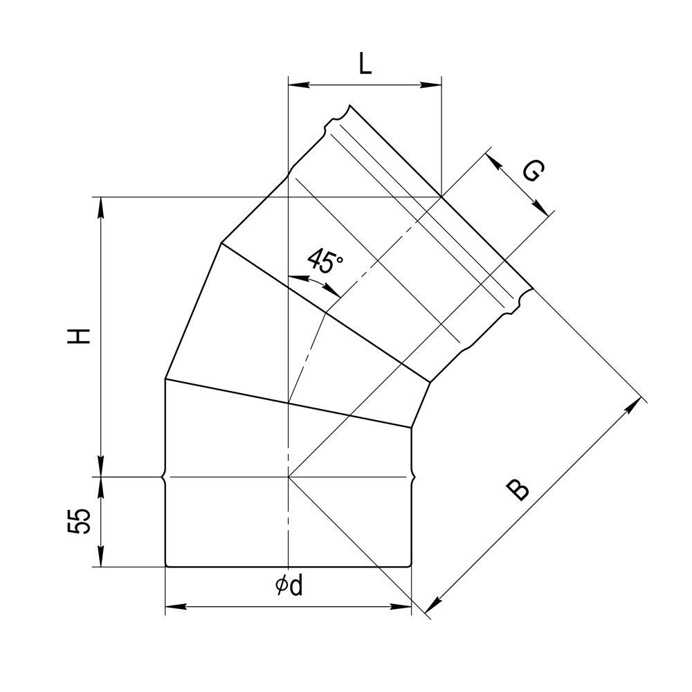 Колено 135° (3 секции)