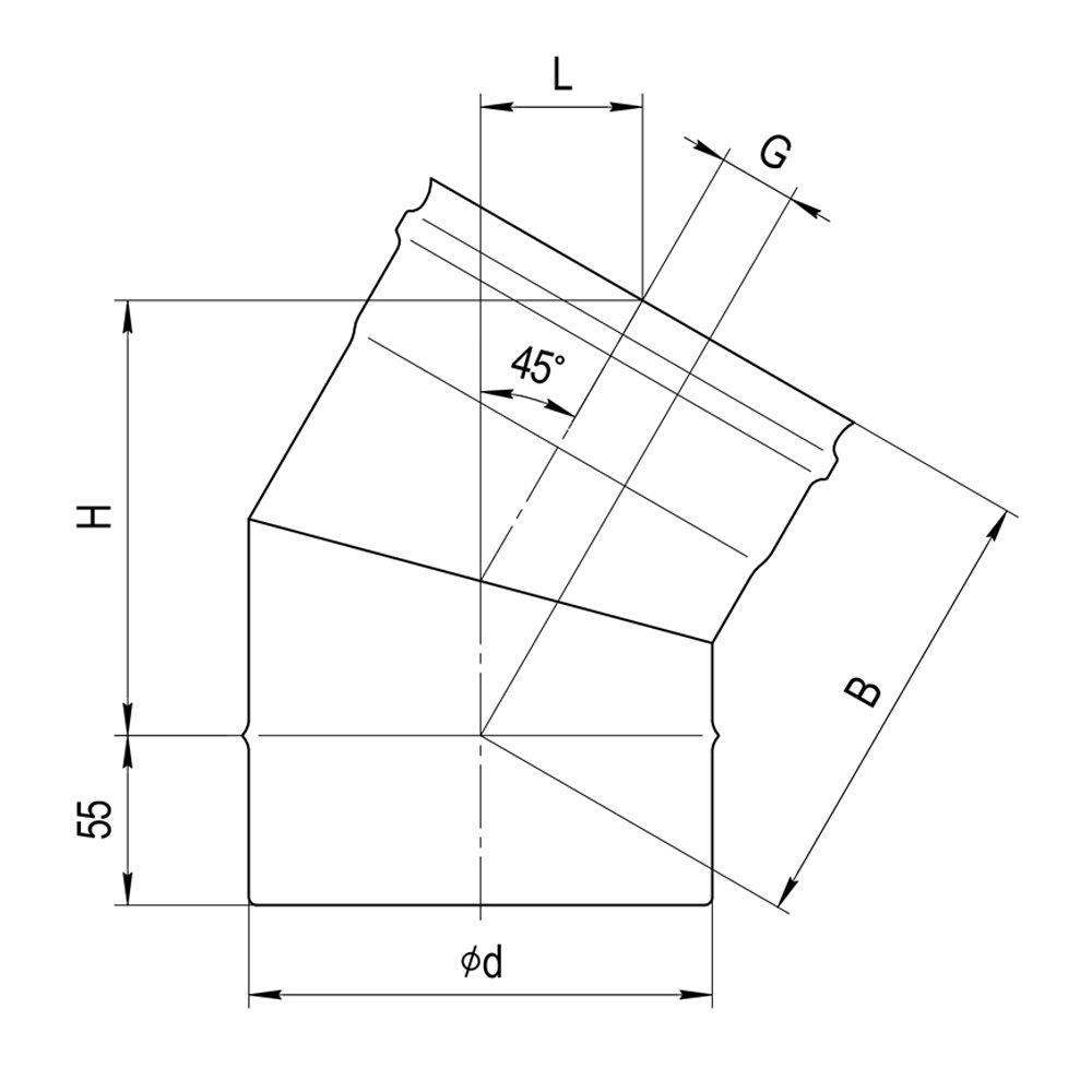 Колено 135° (2 секции)