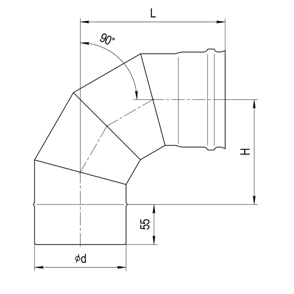 Колено 90° (4 секции)