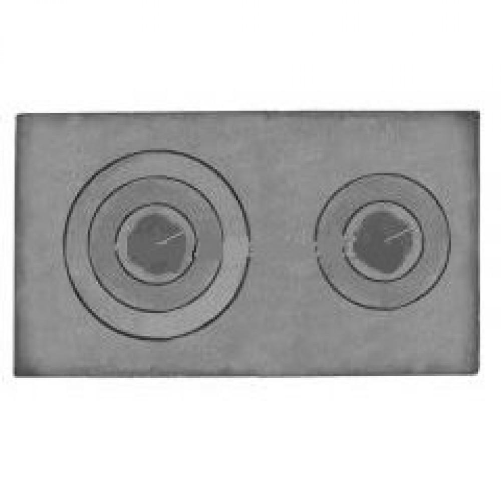 Плита 2-х конфорочная П2-3А 710х410х15мм с ребрами жесткости Р