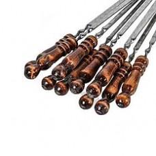 Шампур с деревянной ручкой для мяса
