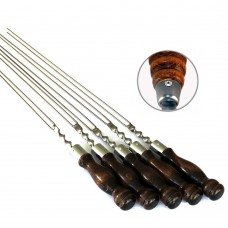 Шампур с деревянной ручкой и огн. кольцом для рыбы