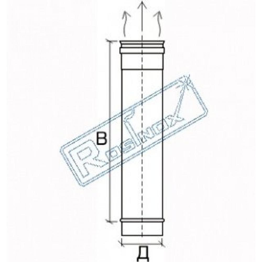 Труба 1000 мм 1T Rosinox®