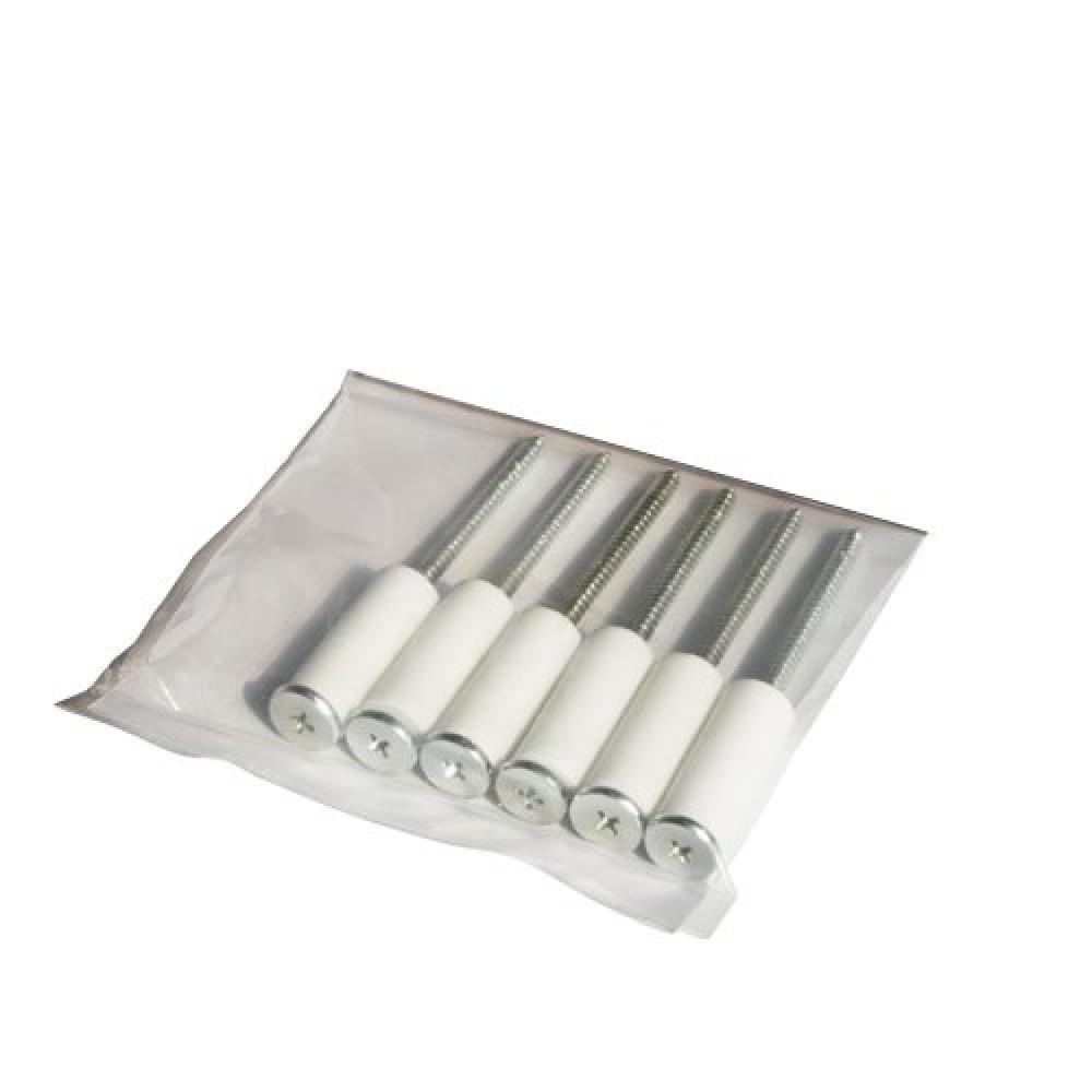 Комплект втулка-изолятор керамическая дистанционная + саморез 6 шт