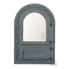 H0308 Дверца со стеклом и зольником FPM1