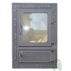 H0310 Дверца со стеклом и зольником правая FPM2