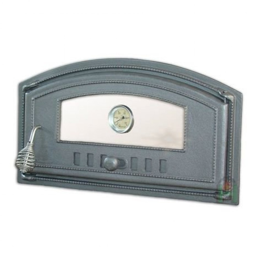 H1008 Дверца со стеклом с термометром правая DCH4T