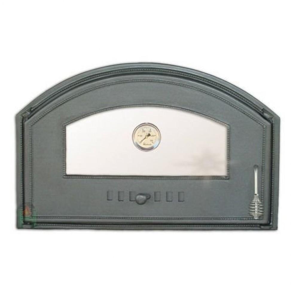 H1307 Дверца со стеклом и термометром левая DCHD3T