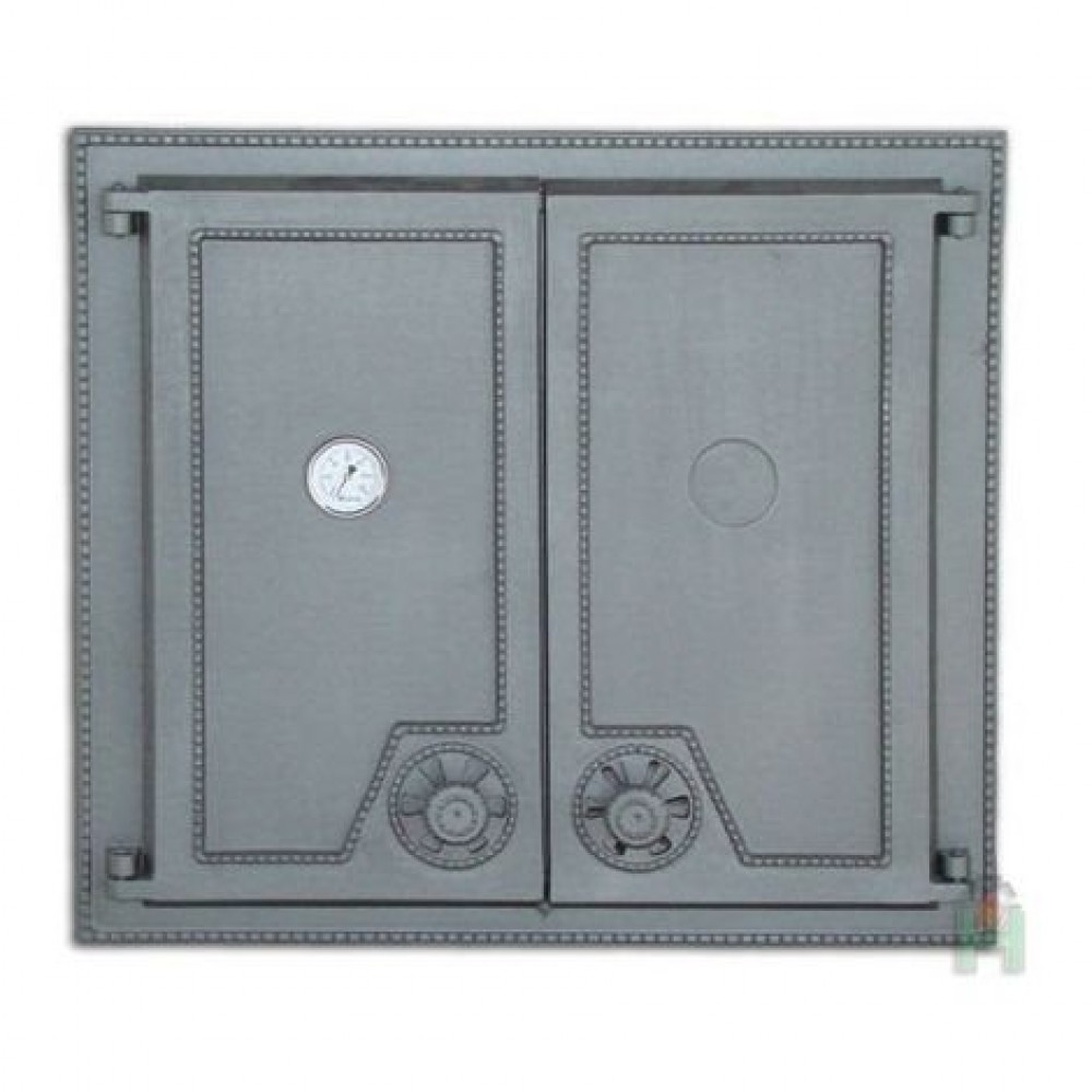 H1516 Дверца двустворчатая глухая с термометром DW6T