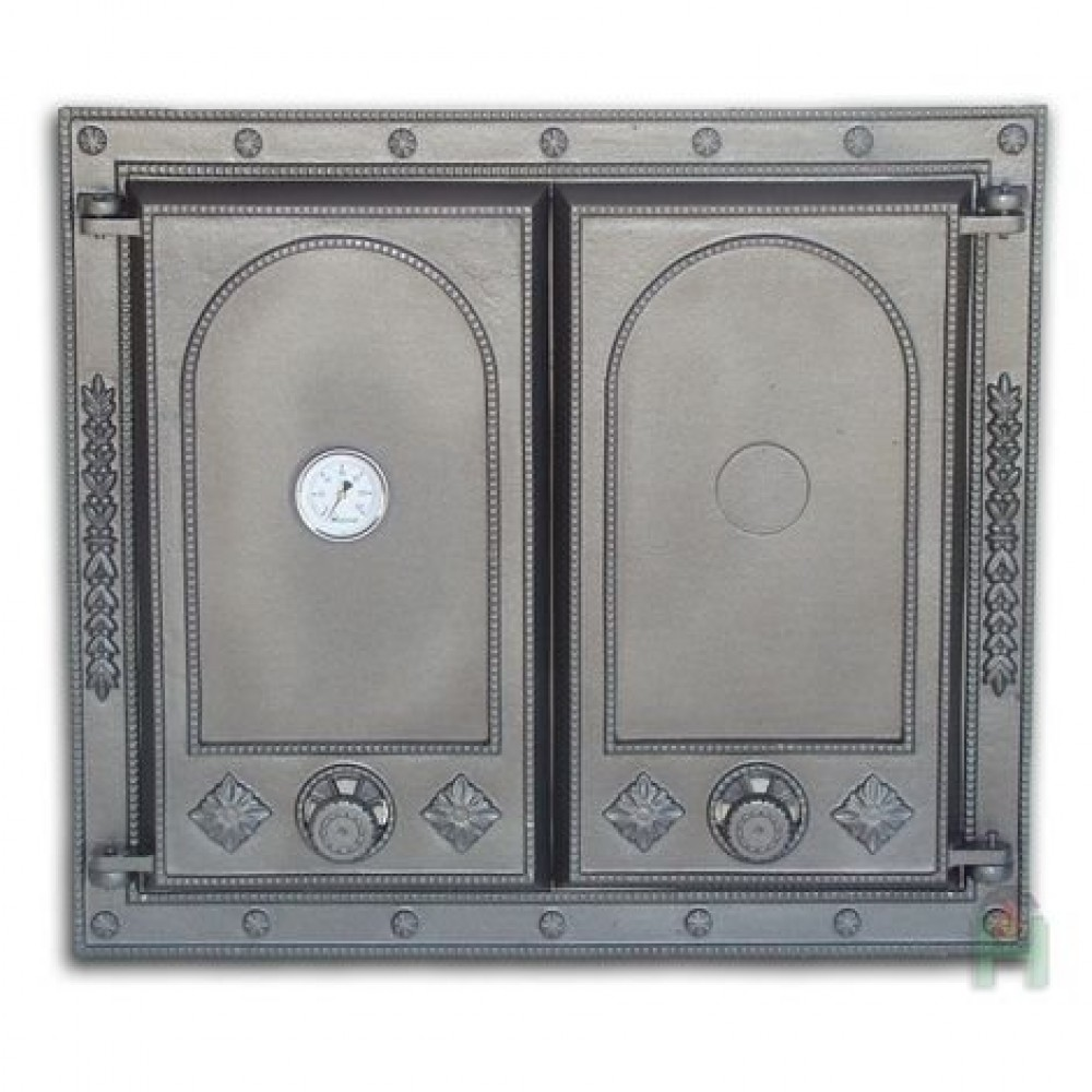 H1517 Дверца двустворчатая глухая с термометром DW7T