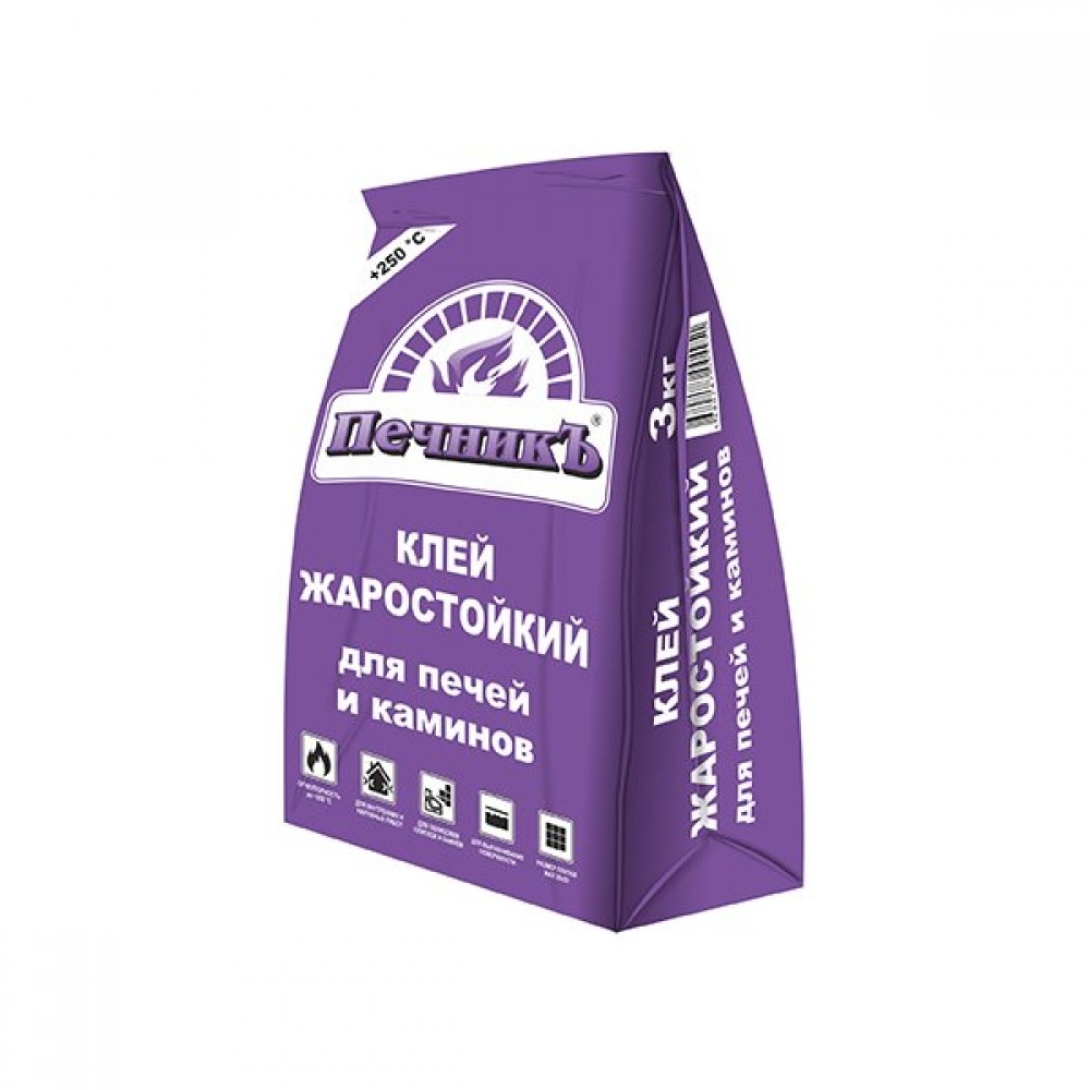 Клей жаростойкий для печей и каминов «Печникъ» 3 кг