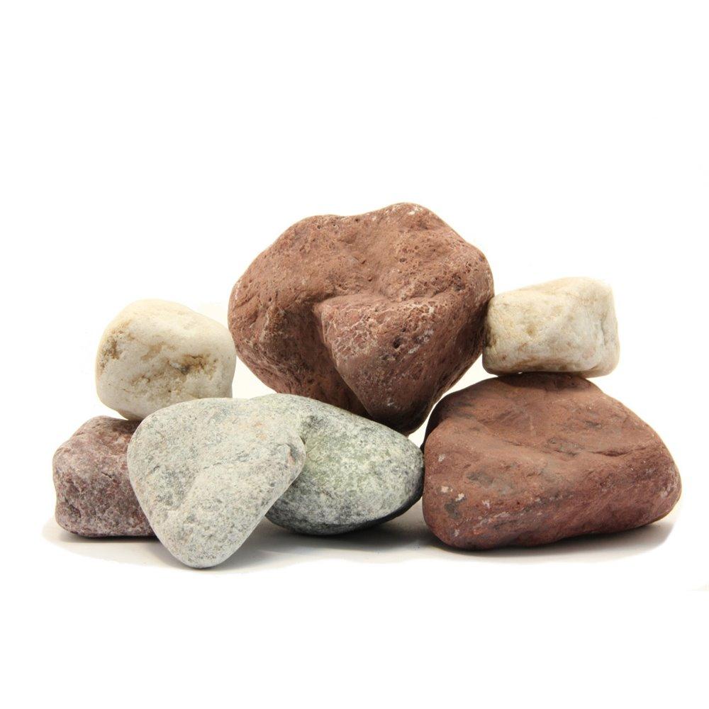 Микс Премиум: Кварц, Яшма, Жадеит. 15 кг Огненный Камень