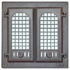 302 Дверца каминная стекло LK