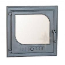 H0306 Дверца печки со стеклом СЛЕЗА