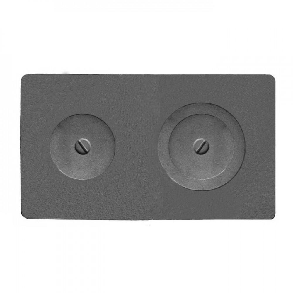 Плита 2-х конфорочная цельная П2-3А «Р» 710х410х12мм